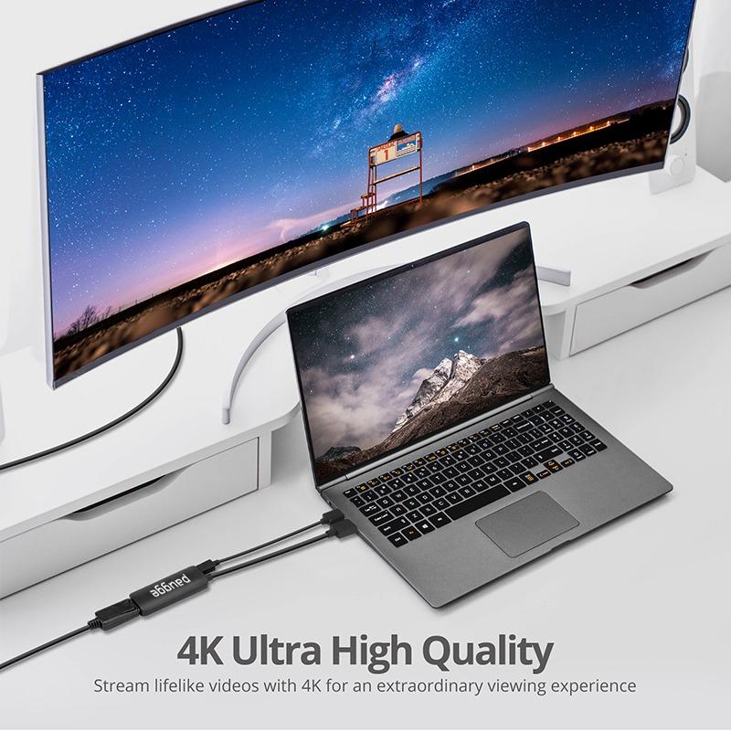 Paugge 4K 60Hz, 2K 144Hz , Full HD 144Hz Hdmi to Displayport Adaptör
