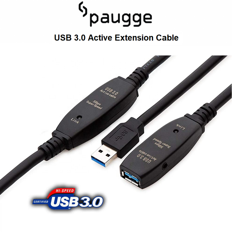 Paugge USB 3.0 Active Extension Uzatma Kablosu - 5m